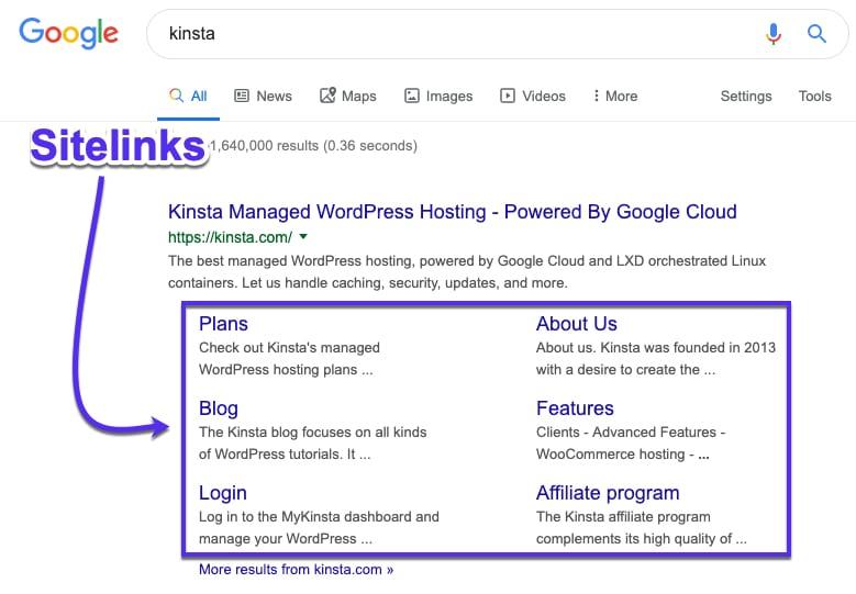 Google site links : Développer une stratégie de liens annexes qui fonctionne