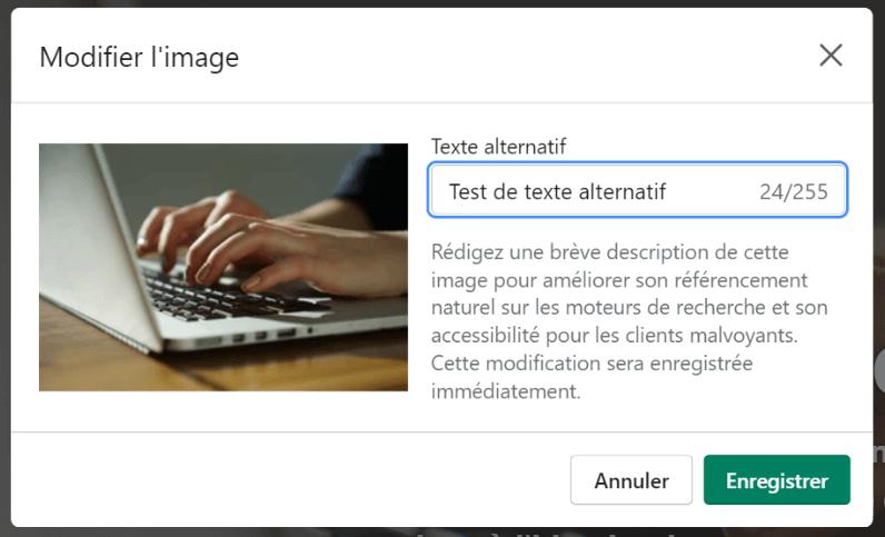 Tutoriel SEO pour Shopify : remplir l'attribut alt d'une image